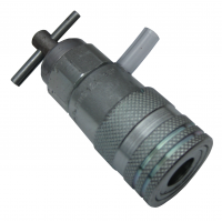 Flat Face 3/8 inch Female - SAFETY hydraulic Pressure Relief Tool - use with 3/8 inch male coupling